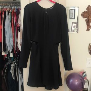 Express black dress with side cutouts